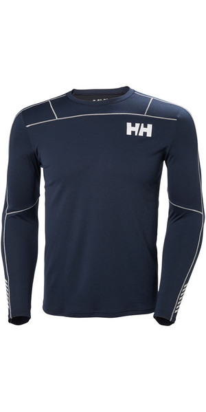 2018 Helly Hansen Lifa Active Light Long Sleeve T Shirt Navy 48360