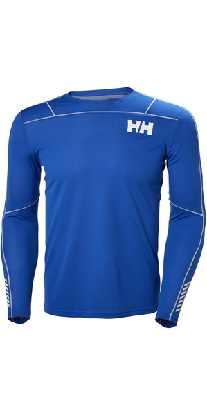 2018 Helly Hansen Lifa Active Light Long Sleeve T Shirt Olympian Blue 48360