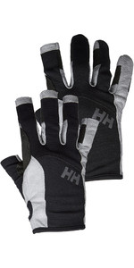 Helly Hansen Long Finger & Short Sailing Glove Twin Package - Black