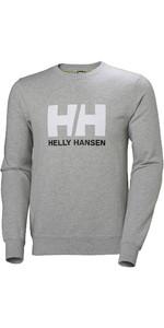 2020 Helly Hansen Mens HH Logo Crew Sweat 34000 - Grey Melange