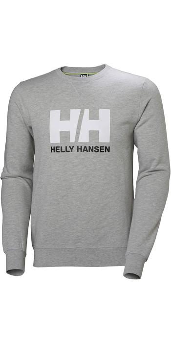 2021 Helly Hansen Mens HH Logo Crew Sweat 34000 - Grey Melange