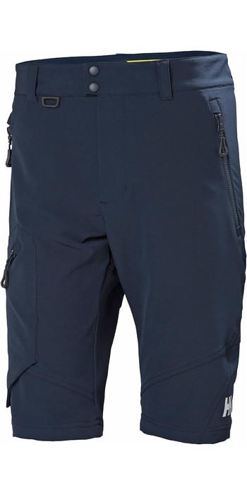 2021 Helly Hansen Mens HP Softshell Shorts Navy 34056