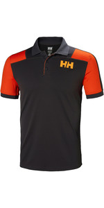 2019 Helly Hansen Mens Lifa Active Light Short Sleeve Polo Ebony 49322