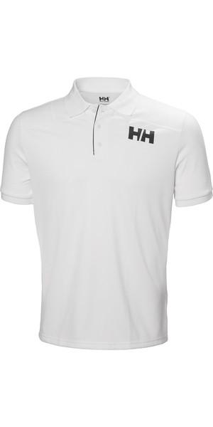 2019 Helly Hansen Mens Lifa Active Light Short Sleeve Polo White 49322