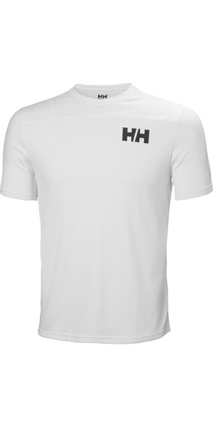 2019 Helly Hansen Mens Lifa Active Light Short Sleeve T-Shirt White 49330