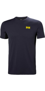 2019 Helly Hansen Mens Lifa Active Mesh T-Shirt Graphite Blue 49319