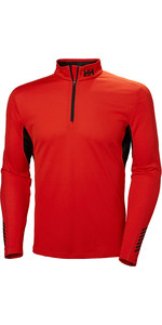2019 Helly Hansen Mens Lifa Active Mesh 1/2 Zip Top Cherry Tomato 49318
