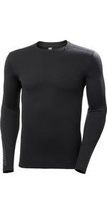 2020 Helly Hansen Mens Lifa Merino Mid Weight Crew Top 49364 - Black
