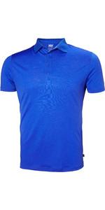 2019 Helly Hansen Mens Merino Light Short Sleeve Polo Olympian Blue 49320