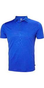 2019 Helly Hansen Mens Merino Light Short Sleeve Polo Olympian Blue 49320