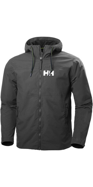 2018 Helly Hansen Mens Rigging Rain Jacket Ebony 64028