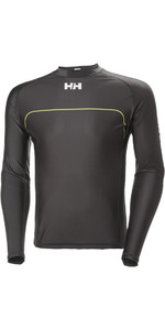 2018 Helly Hansen Rider Long Sleeve Rash Vest Ebony 33916