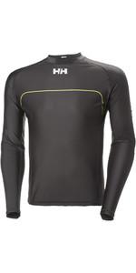 Helly Hansen Rider Long Sleeve Rash Vest Ebony 33916