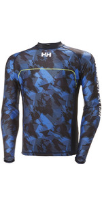 2018 Helly Hansen Rider Long Sleeve Rash Vest Navy 33916