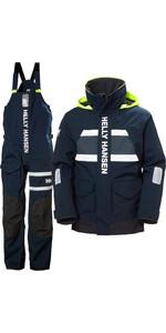 2021 Helly Hansen Mens Salt Coastal Jacket & Trouser Combi Set - Navy