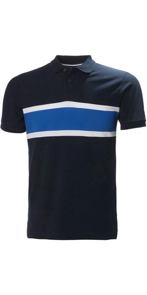 2018 Helly Hansen Salt Polo Shirt Navy Flag 33939