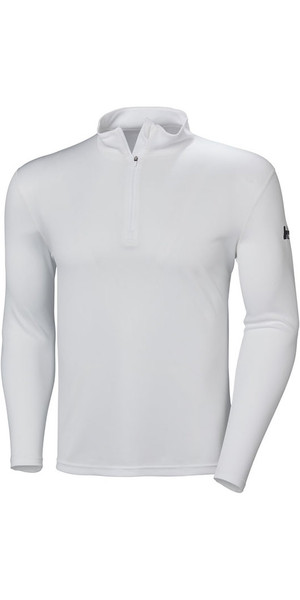 2018 Helly Hansen Tech 1/2 Zip Long Sleeve Base Layer White 48365