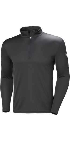 2018 Helly Hansen Tech 1/2 Zip Long Sleeve Base Layer Ebony 48365