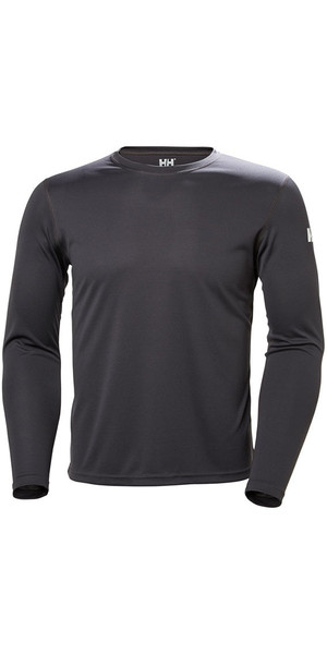 2018 Helly Hansen Tech Crew Long Sleeve Base Layer Ebony 48364