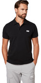 2021 Helly Hansen Transat Polo Shirt Black 33980