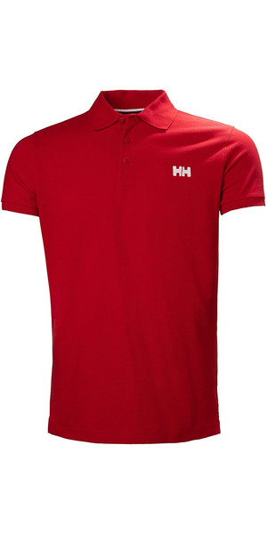 2018 Helly Hansen Transat Polo Shirt Flag Red 33980
