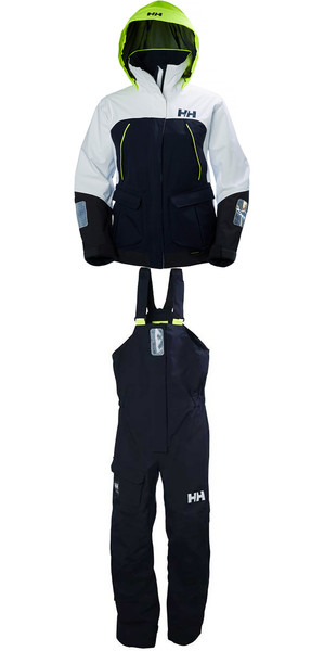 2018 Helly Hansen Womens Pier Coastal Jacket 33886 & Trouser 33901 Combi Set in Navy