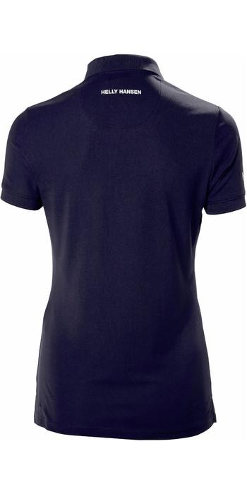 2021 Helly Hansen Womens Crewline Polo Shirt Navy 53049