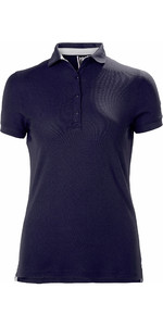 2021 Helly Hansen Womens Crewline Polo Shirt Navy 53049