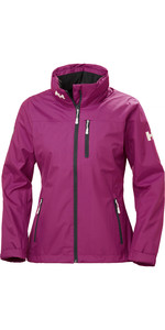 2019 Helly Hansen Womens Hooded Crew Mid Layer Jacket Berry 33891