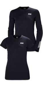 Helly Hansen Womens Lifa Active Light Long Sleeve & Short Sleeve Top Twin Pack - Graphite Blue