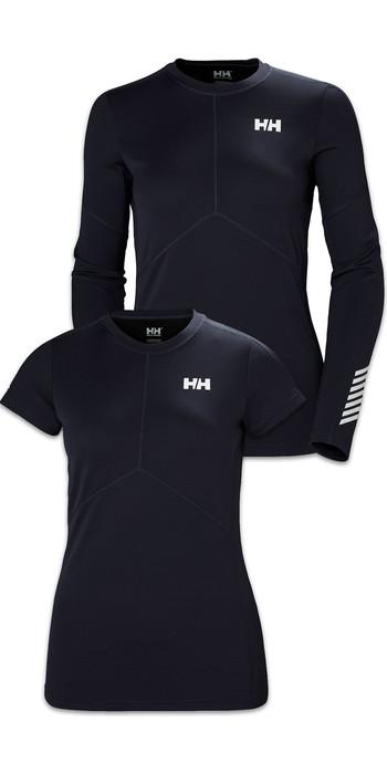 Helly Hansen Womens Lifa Active Light Long Sleeve & Short Sleeve Top Twin Pack - Graphite Blue