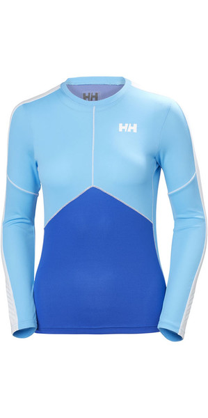 2018 Helly Hansen Womens Lifa Active Light Long Sleeve T Shirt Olympian Blue 48369