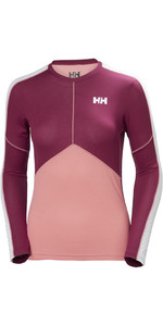 Helly Hansen Womens Lifa Active Light Long Sleeve T Shirt Shell Pink 48369