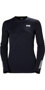 2019 Helly Hansen Womens Lifa Active Light Long Sleeve Top Graphite Blue 49329