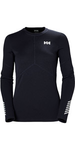 2019 Helly Hansen Womens Lifa Active Light Long Sleeve Top Graphite Blue 49329
