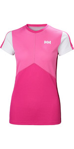 2019 Helly Hansen Womens Lifa Active Light Short Sleeve Top Dragon Fruit 49328