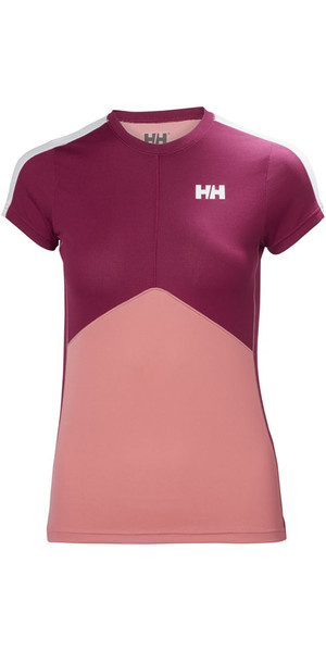 2018 Helly Hansen Womens Lifa Active Light T Shirt Shell Pink 48370