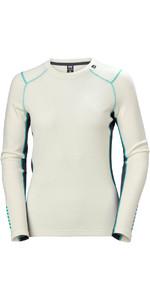 2020 Helly Hansen Womens Lifa Merino Mid Weight Crew Top 49378 - Off White