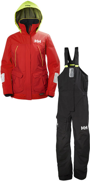 2018 Helly Hansen Womens Pier Coastal Combi Set Red / Ebony