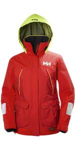 2019 Helly Hansen Womens Pier Coastal Jacket Alert Red 33886