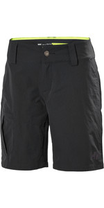 2021 Helly Hansen Womens QD Cargo Shorts Ebony 33942