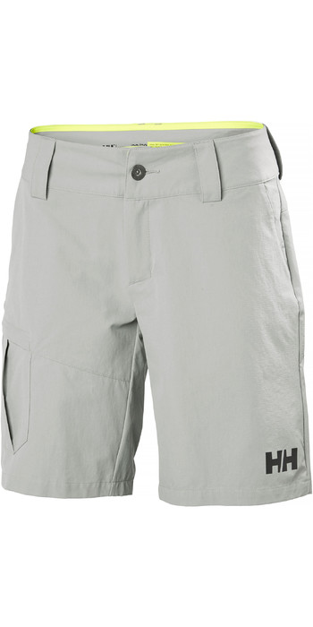 2021 Helly Hansen Womens QD Cargo Shorts Grey Fog 33942