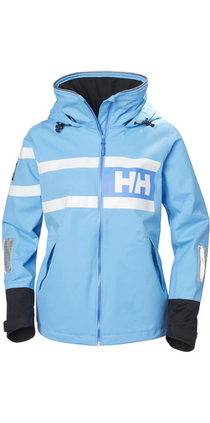 2018 Helly Hansen Womens Salt Power Jacket Aqua Blue 36279