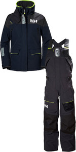 2019 Helly Hansen Womens Skagen Offshore Jacket & Trouser Combi Set HHSKN - Navy / Ebony