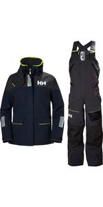 2020 Helly Hansen Womens Skagen Offshore Jacket & Trouser Combi Set - Navy / Ebony