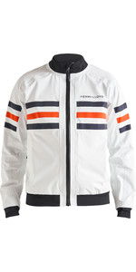 2019 Henri Lloyd Mens Fremantle Stripe Crew Jacket Cloud White P191101004