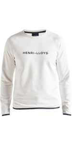 2019 Henri Lloyd Mens Fremantle Stripe Crew Sweat Cloud White P191104011
