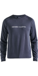 2019 Henri Lloyd Mens Fremantle Stripe Crew Sweat Navy Blue P191104011
