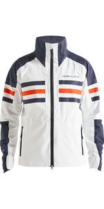 2019 Henri Lloyd Mens Fremantle Stripe Gore-Tex Jacket Cloud White P191101002