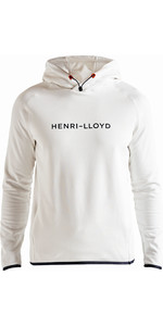 2019 Henri Lloyd Mens Fremantle Stripe Hoody Cloud White P191104012